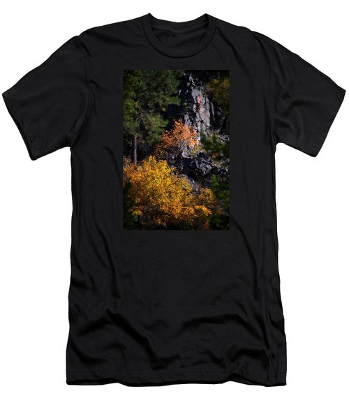 Men's T-Shirt (Slim Fit) featuring the photograph Autumn Colors 2 by Newel Hunter