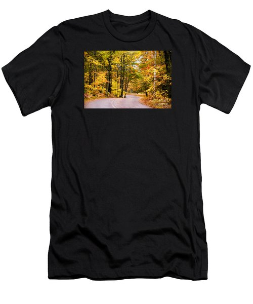 Autumn Colors - Colorful Fall Leaves Wisconsin - II Men's T-Shirt (Slim Fit) by David Perry Lawrence
