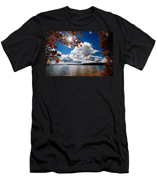 Men's T-Shirt (Athletic Fit) featuring the photograph Autumn  Confidential  by Bob Orsillo