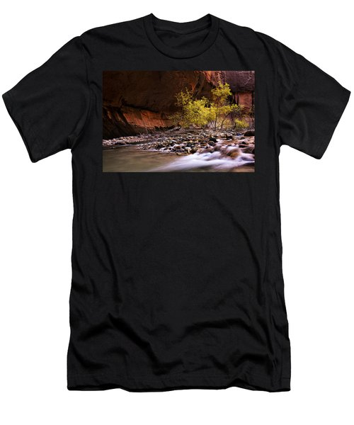 Men's T-Shirt (Slim Fit) featuring the photograph Autumn Cottonwood In The Narrows by Andrew Soundarajan