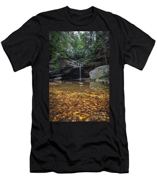 Autumn Falls Men's T-Shirt (Slim Fit) by James Dean
