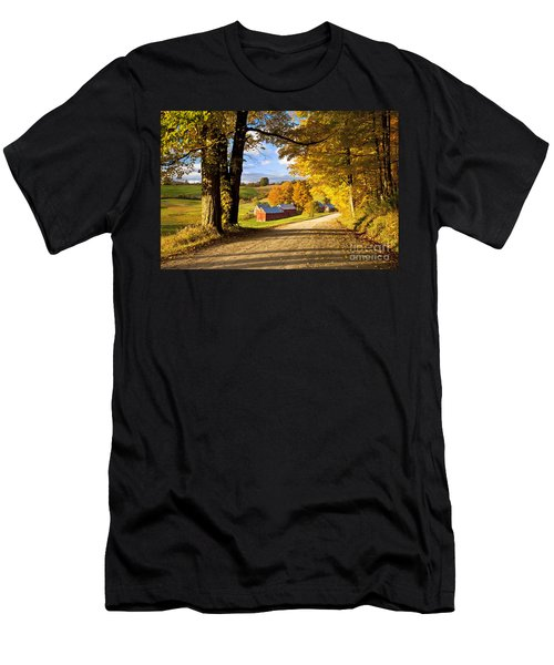 Autumn Farm In Vermont Men's T-Shirt (Athletic Fit)