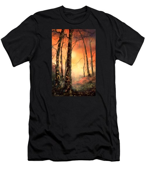 Men's T-Shirt (Slim Fit) featuring the painting Autumn Glow by Jean Walker
