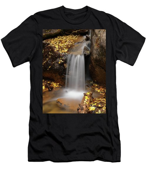 Autumn Gold And Waterfall Men's T-Shirt (Athletic Fit)