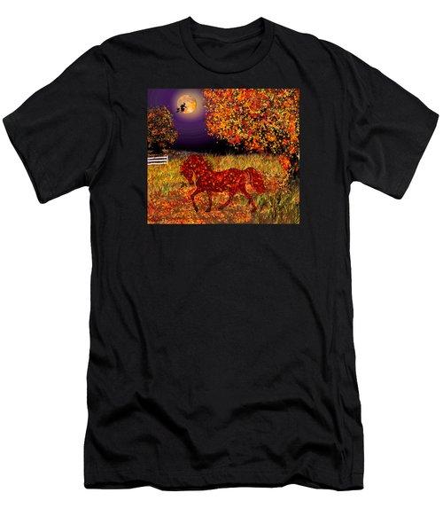 Autumn Horse Bewitched Men's T-Shirt (Slim Fit) by Michele Avanti