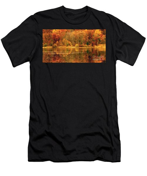 Autumn In Mirror Lake Men's T-Shirt (Athletic Fit)
