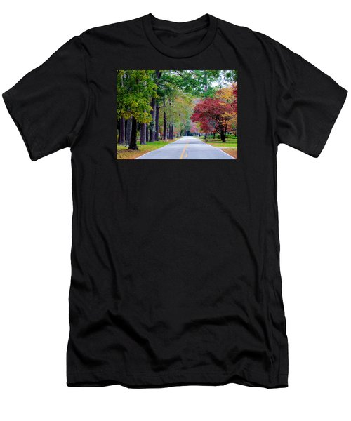 Men's T-Shirt (Slim Fit) featuring the photograph Autumn In The Air by Cynthia Guinn