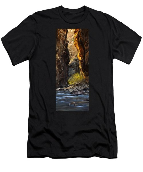 Men's T-Shirt (Slim Fit) featuring the photograph Autumn In The Narrows by Andrew Soundarajan