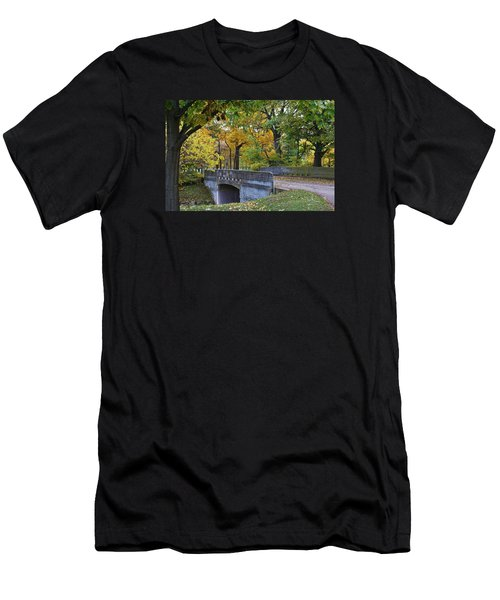 Autumn In The Park Men's T-Shirt (Slim Fit) by Bruce Bley