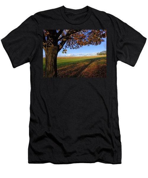 Men's T-Shirt (Slim Fit) featuring the photograph Autumn Landscape by Joseph Skompski