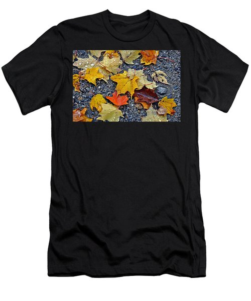 Autumn Leaves In Rain Men's T-Shirt (Athletic Fit)
