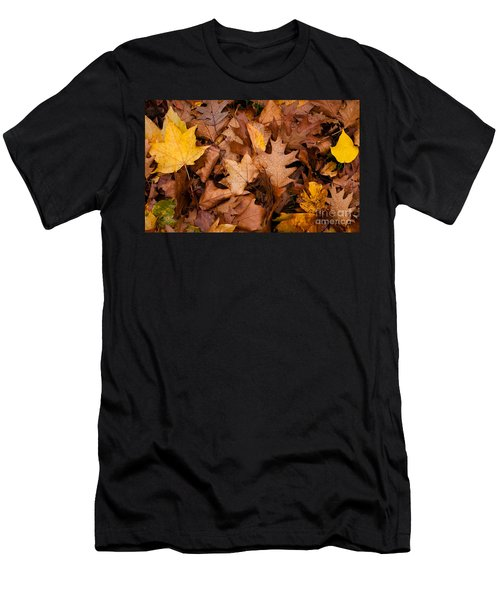 Men's T-Shirt (Slim Fit) featuring the photograph Autumn Leaves by Matt Malloy