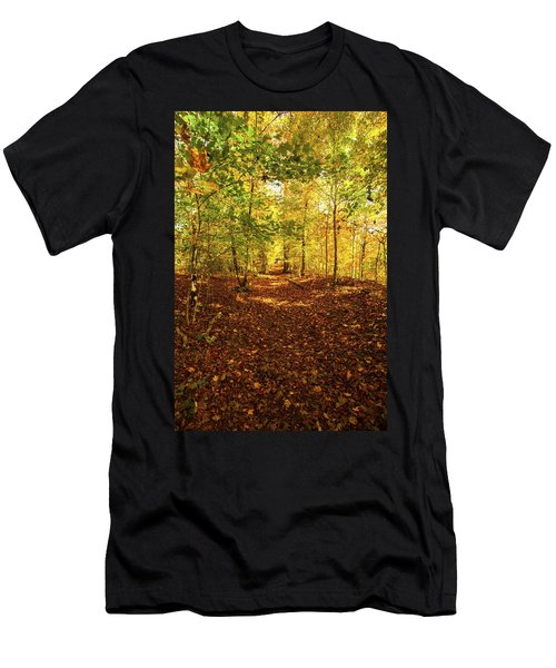Autumn Leaves Pathway  Men's T-Shirt (Athletic Fit)