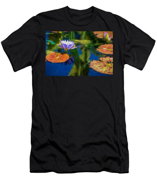 Autumn Lily Pad Impressions Men's T-Shirt (Athletic Fit)