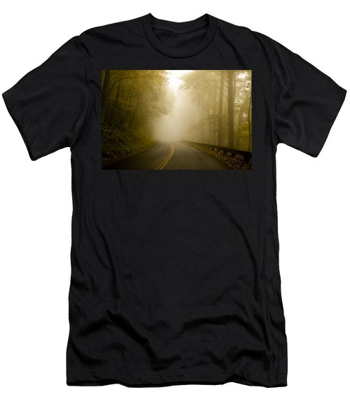 Autumn Mist Blue Ridge Parkway Men's T-Shirt (Athletic Fit)