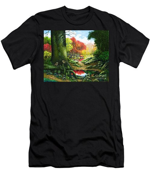 Autumn Morning In The Forest Men's T-Shirt (Athletic Fit)