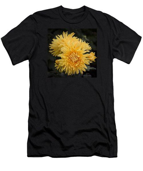 Autumn Mums Men's T-Shirt (Slim Fit) by Julie Palencia