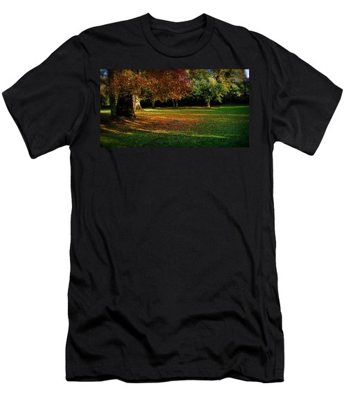 Men's T-Shirt (Slim Fit) featuring the photograph Autumn by Nina Ficur Feenan