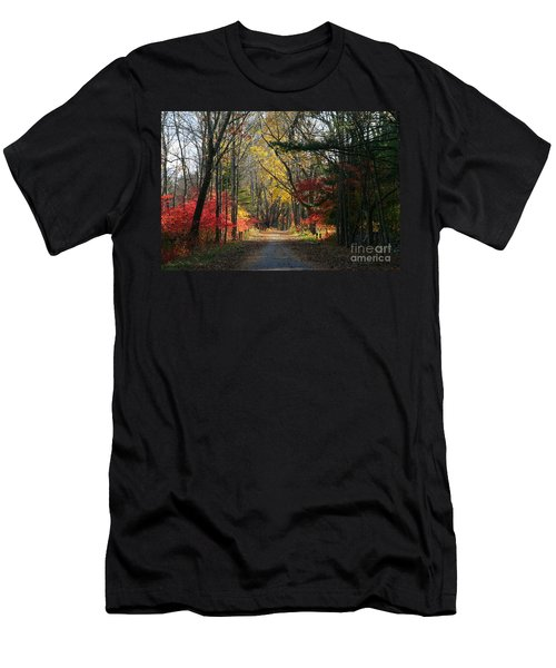 Autumn Paths    No.2 Men's T-Shirt (Slim Fit)