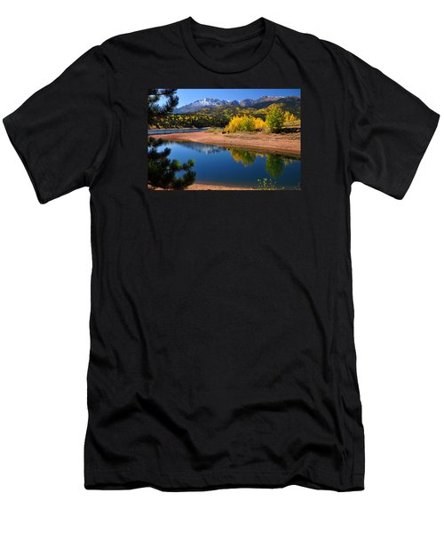 Autumn Reflections At Crystal Men's T-Shirt (Slim Fit) by John Hoffman