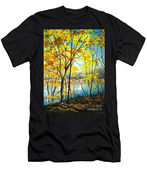 Autumn River Walk Men's T-Shirt (Athletic Fit)