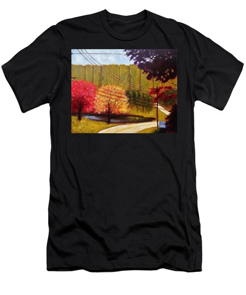Autumn Slopes Men's T-Shirt (Athletic Fit)