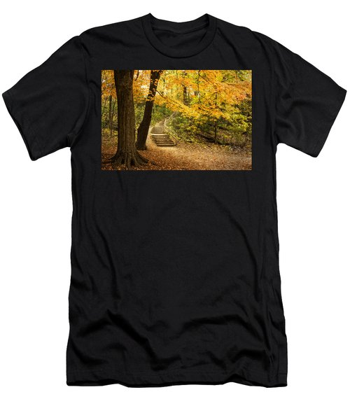 Autumn Stairs Men's T-Shirt (Athletic Fit)