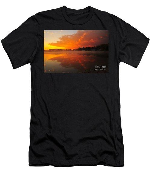 Autumn Sunrise At Stoneledge Lake Men's T-Shirt (Slim Fit) by Terri Gostola