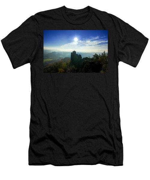 Autumn Sunrise In The Elbe Sandstone Mountains Men's T-Shirt (Athletic Fit)