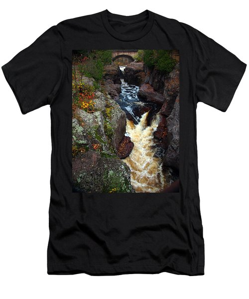 Men's T-Shirt (Athletic Fit) featuring the photograph Autumn Temperance River by James Peterson