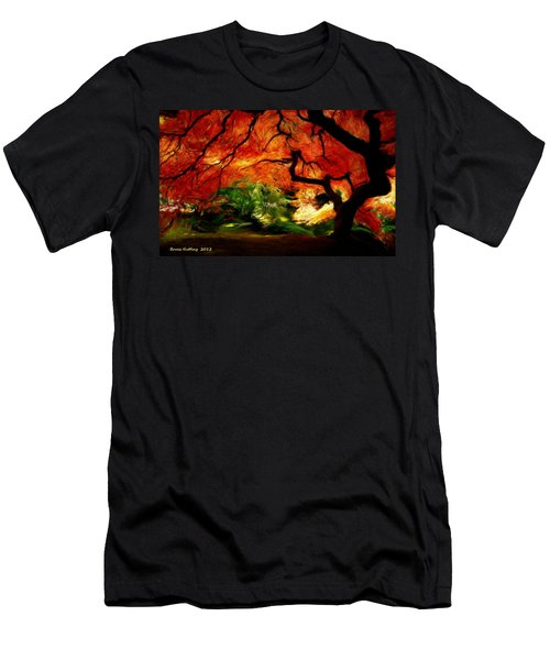 Men's T-Shirt (Slim Fit) featuring the painting Autumn Tree by Bruce Nutting