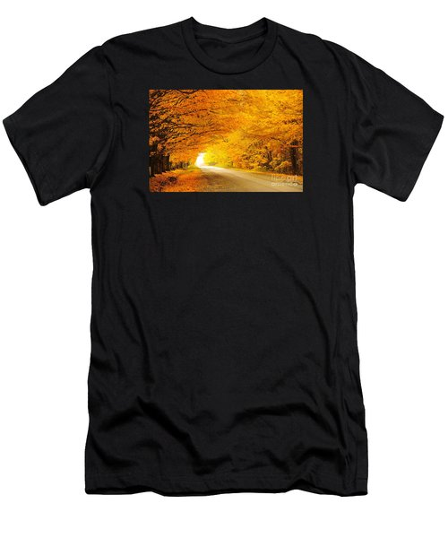 Autumn Tunnel Of Gold 8 Men's T-Shirt (Athletic Fit)