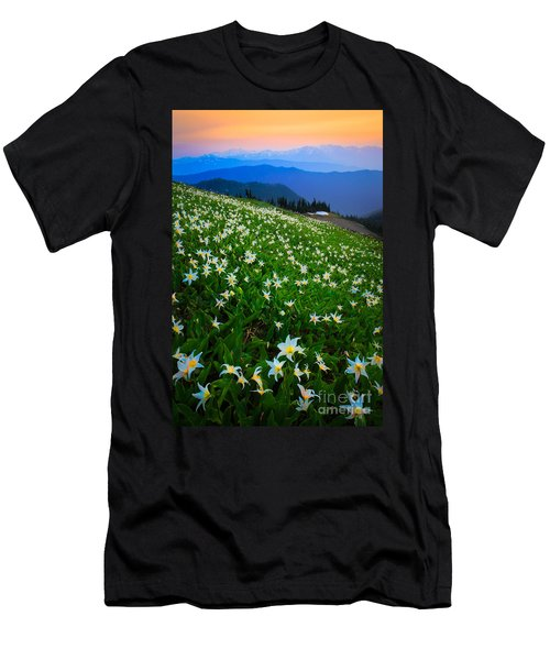 Avalanche Lily Field Men's T-Shirt (Athletic Fit)