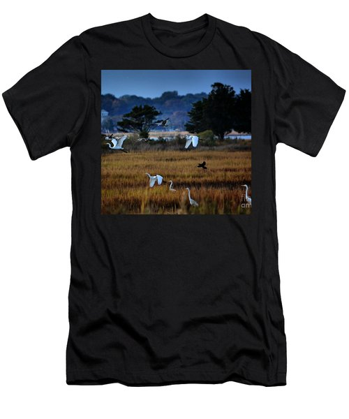 Aviary Convention Men's T-Shirt (Slim Fit) by Robert McCubbin