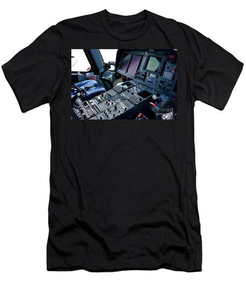 Aw139 Cockpit Men's T-Shirt (Athletic Fit)
