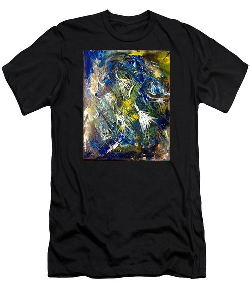 Men's T-Shirt (Slim Fit) featuring the painting Awakening The Bear by Kicking Bear  Productions