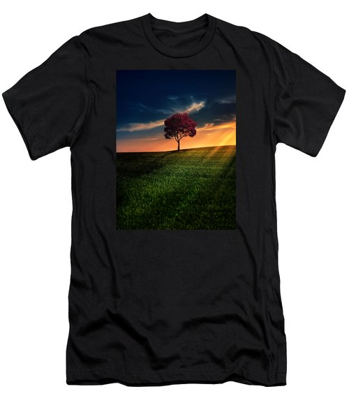 Awesome Solitude Men's T-Shirt (Slim Fit) by Bess Hamiti