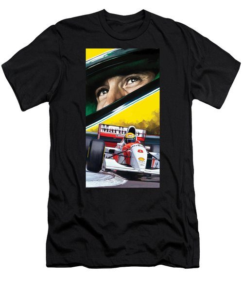 Ayrton Senna Artwork Men's T-Shirt (Athletic Fit)