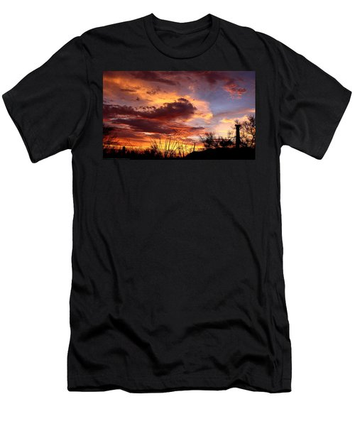 Az Monsoon Sunset Men's T-Shirt (Athletic Fit)