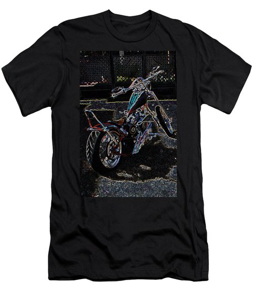 Men's T-Shirt (Slim Fit) featuring the digital art Aztec Neon Art by Lesa Fine