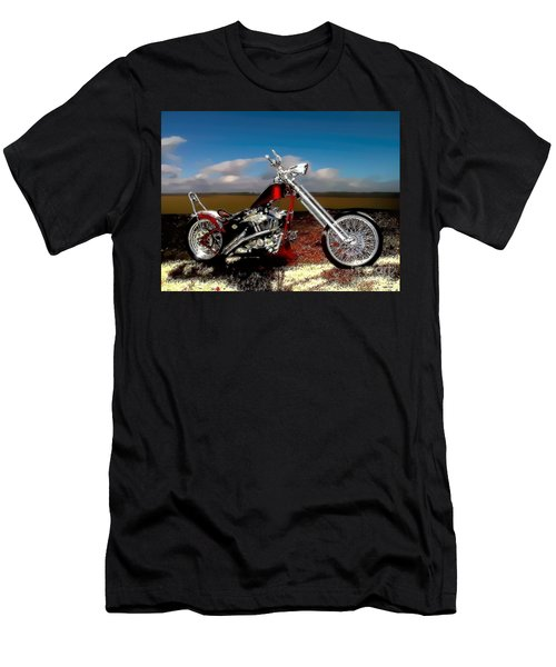 Aztec Rest Stop Men's T-Shirt (Slim Fit) by Lesa Fine