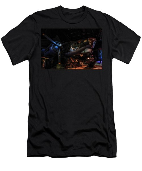 B-17 Exhibit In Hdr Men's T-Shirt (Athletic Fit)
