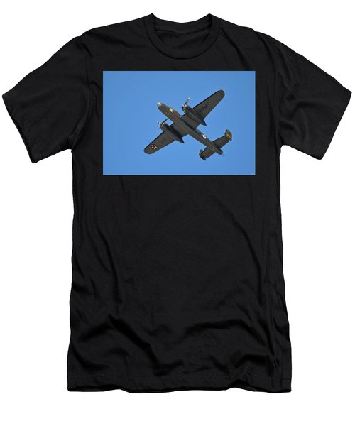 B25 Mitchell Wwii Bomber On 70th Anniversary Of Doolittle Raid Over Florida 21 April 2013 Men's T-Shirt (Athletic Fit)