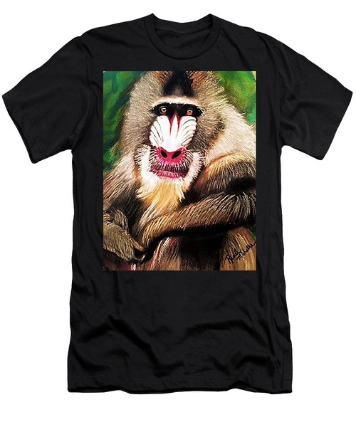 Baboon Stare Men's T-Shirt (Athletic Fit)
