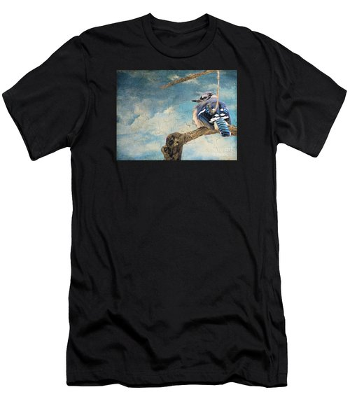 Baby Blue Jay In Winter Men's T-Shirt (Athletic Fit)