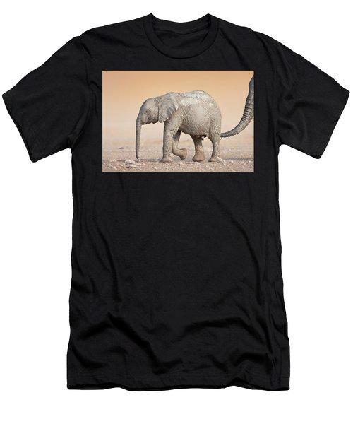 Baby Elephant  Men's T-Shirt (Athletic Fit)