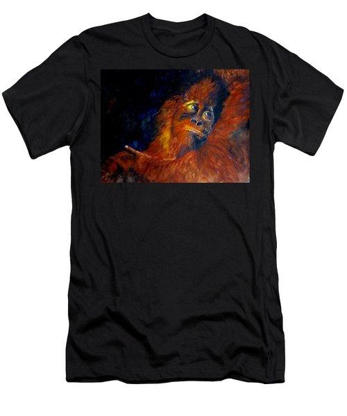 Baby Orangatan Men's T-Shirt (Slim Fit) by Maris Sherwood