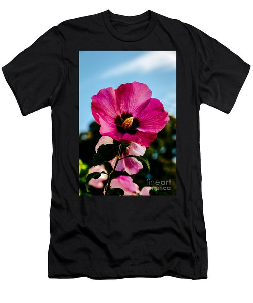 Baby Pink Hollyhock Men's T-Shirt (Athletic Fit)