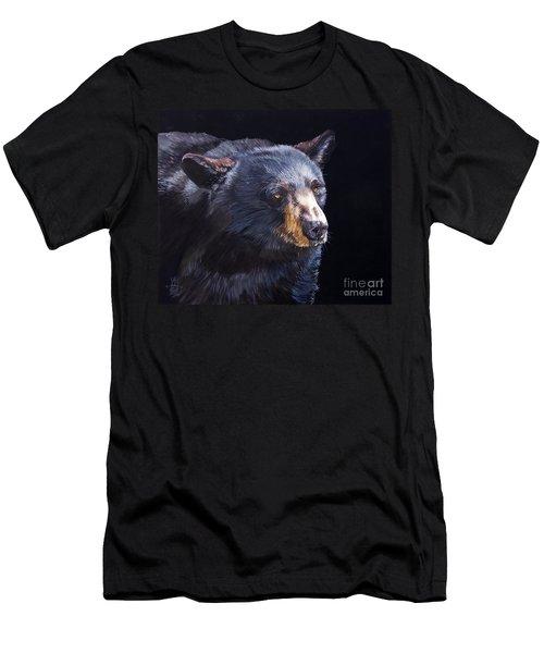 Back In Black Bear Men's T-Shirt (Slim Fit) by J W Baker