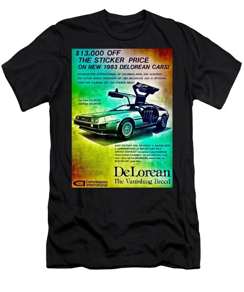 Back To The Delorean Men's T-Shirt (Athletic Fit)